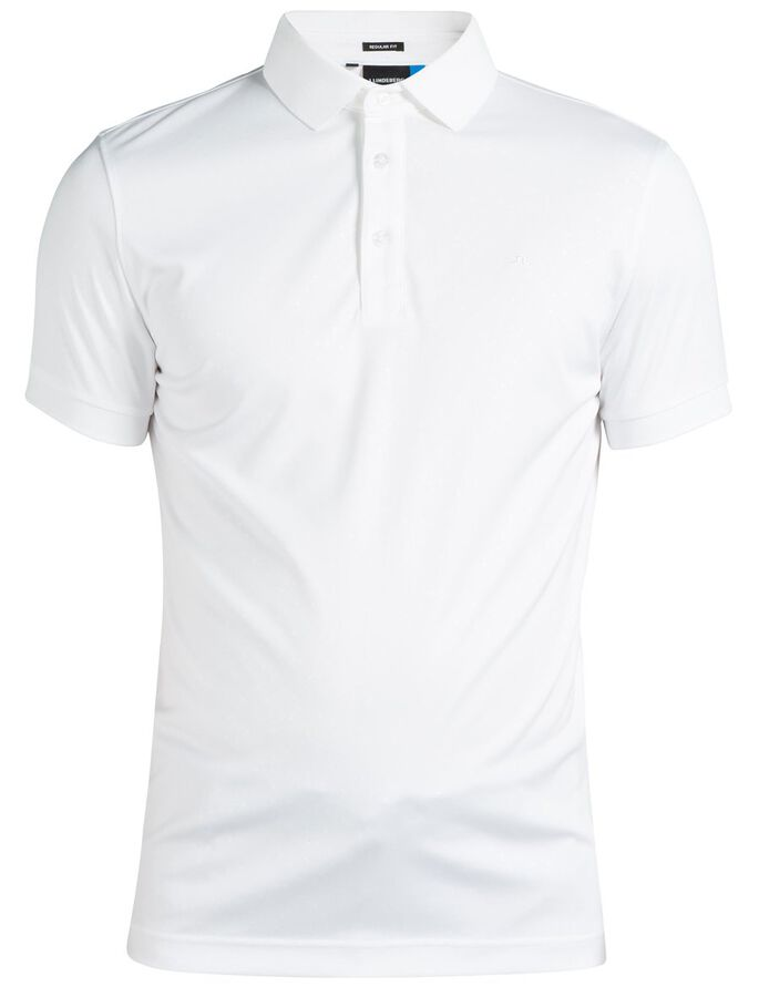 DAVID SLIM TX JERSEY + POLO SHIRT, White, large