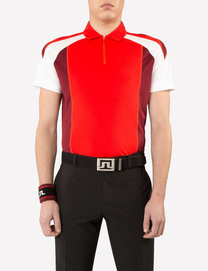 SANDRO REG TX JERSEY POLOSKJORTE, Racing Red, large
