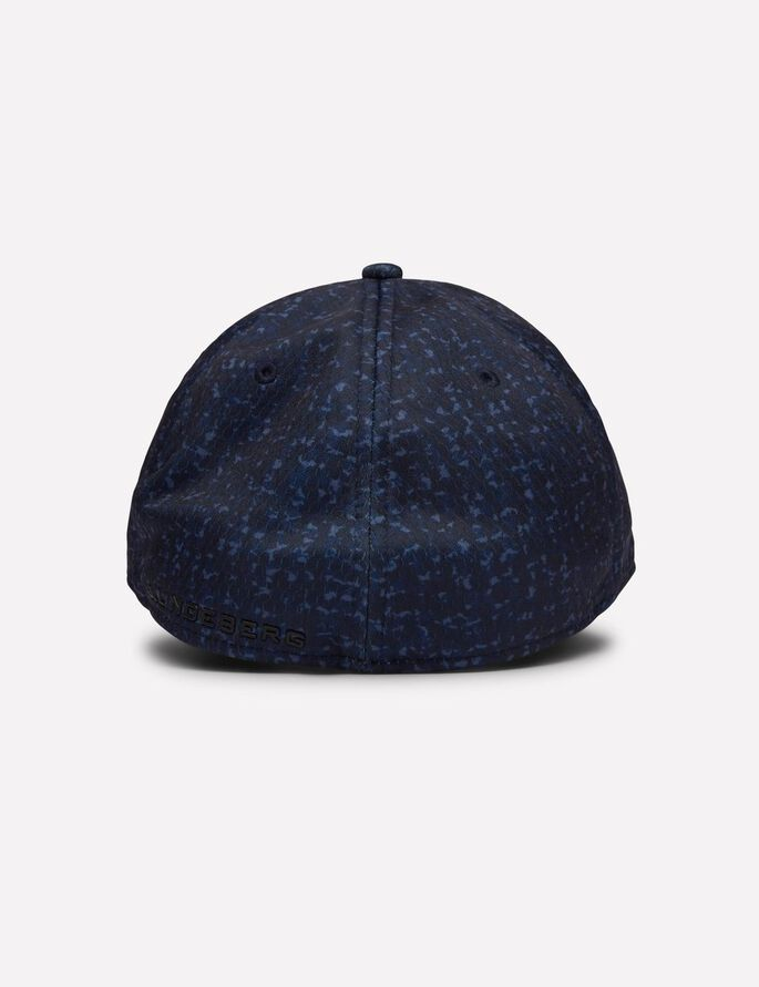 CALVIN STRETCH CAP, Navy Wave Print, large