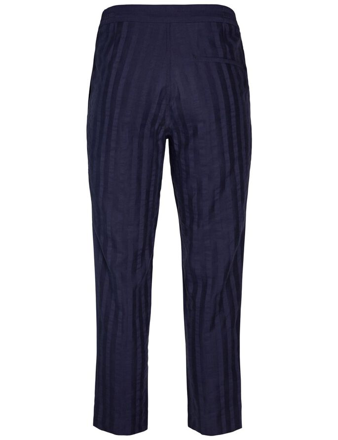 CROPPER FLUID STRIPE CHINOS, Midnight Melange, large