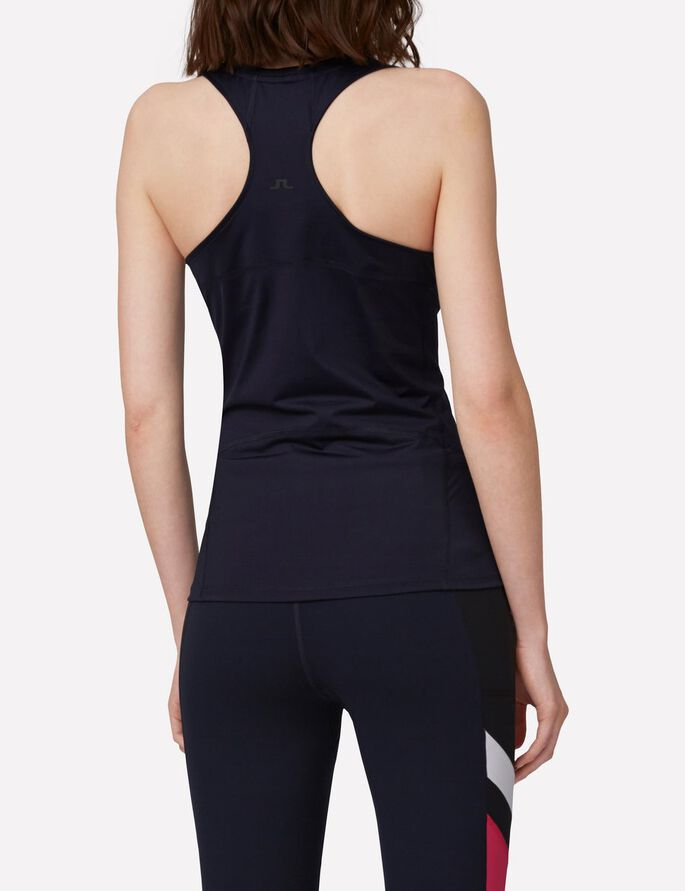 ACTIVE RACERBACK TECH POLY TANK TOP, JL Navy, large