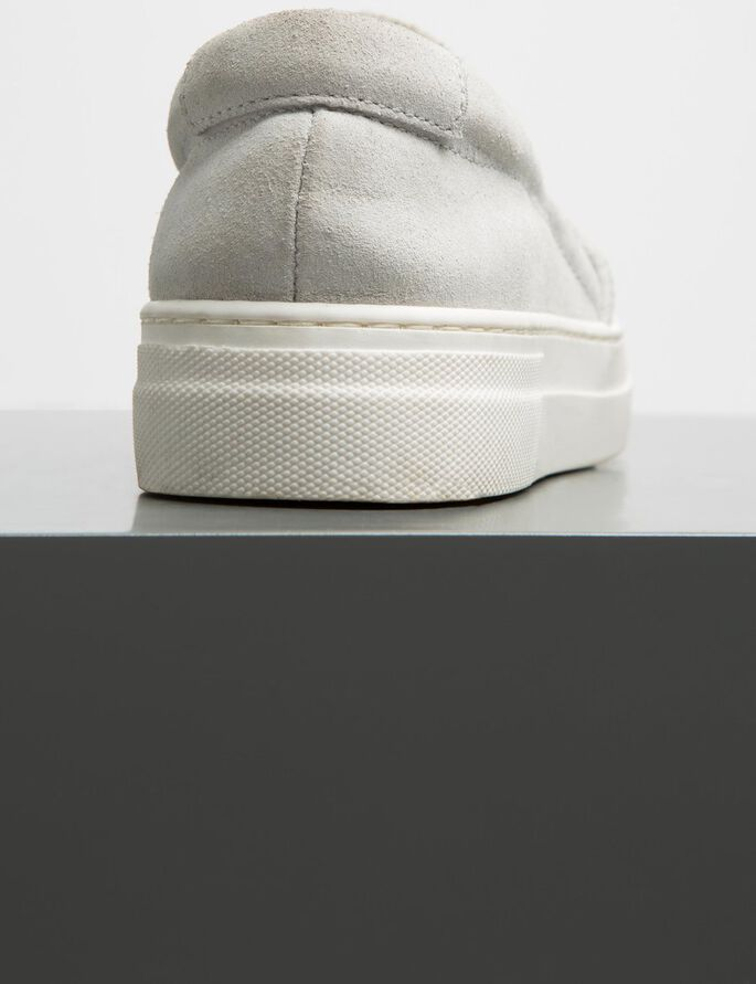 POINTY CRACKED SUEDE SNEAKERS, Off White, large