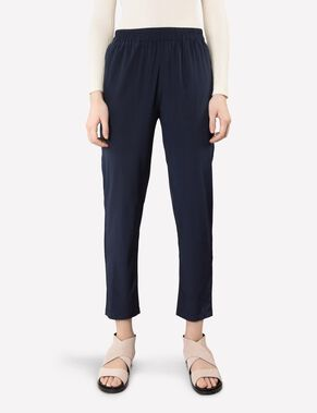 SPRING DRAPY SILK TROUSERS