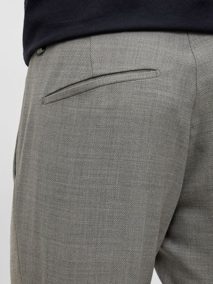 GRANT HOPSACK TROUSERS, Stone Grey, large