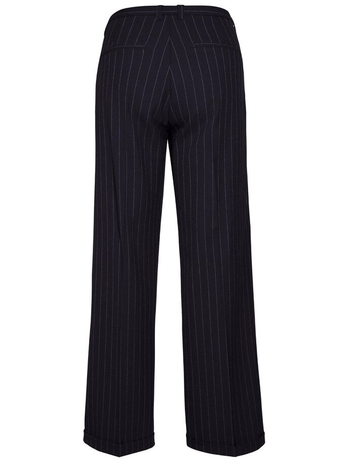 KORI FAB PINSTRIPE SUIT TROUSERS, Navy, large