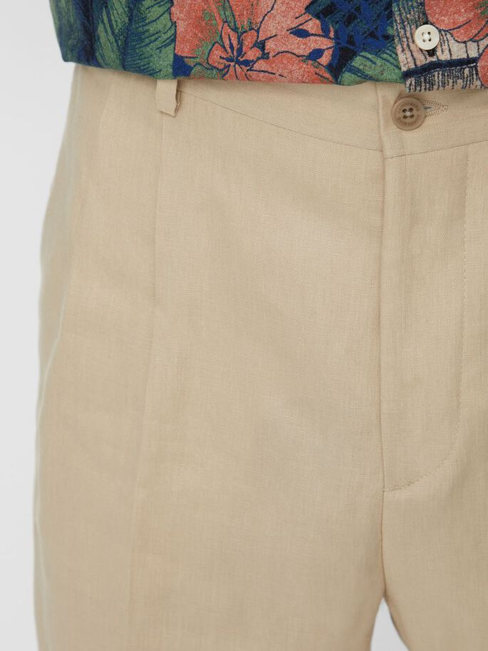 REMY TECH LINEN TROUSERS, Sand Grey, large