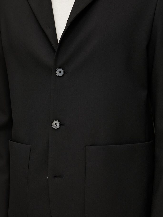 LUC STRETCH TAILORED OVERSHIRT, Black, large