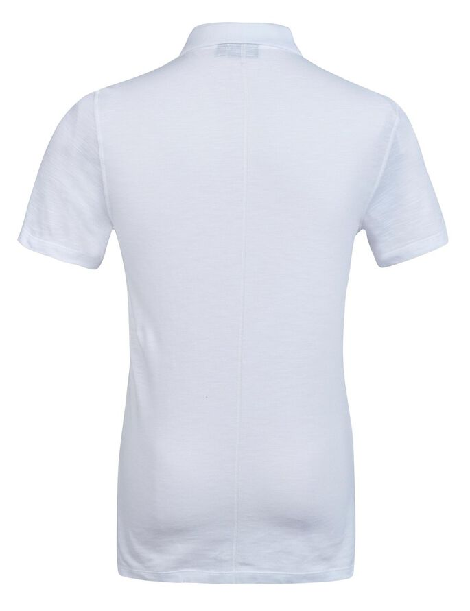 ROBIN SLUB PIQUE POLO SHIRT, White, large