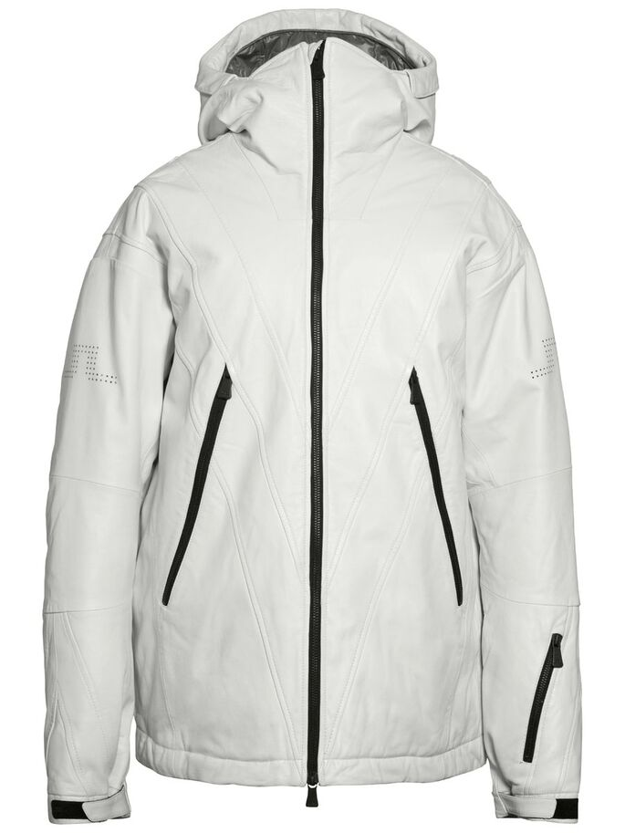 JOHAN LEATHER SKI JACKET, White, large