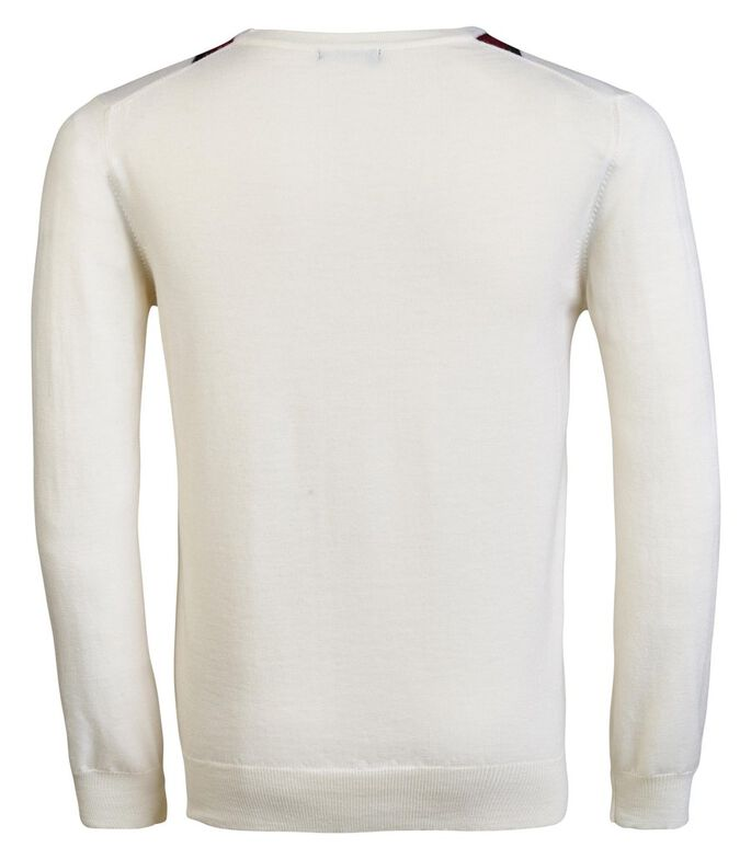 TRUMAN TRUE MERINO KNITTED PULLOVER, White, large