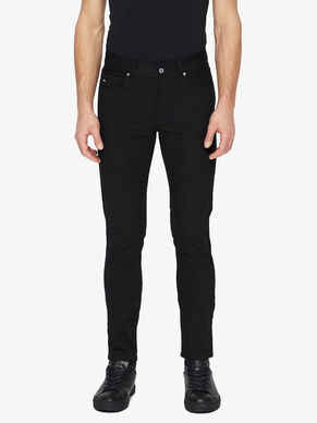 DAMIEN BLACK STRETCH DENIM JEANS
