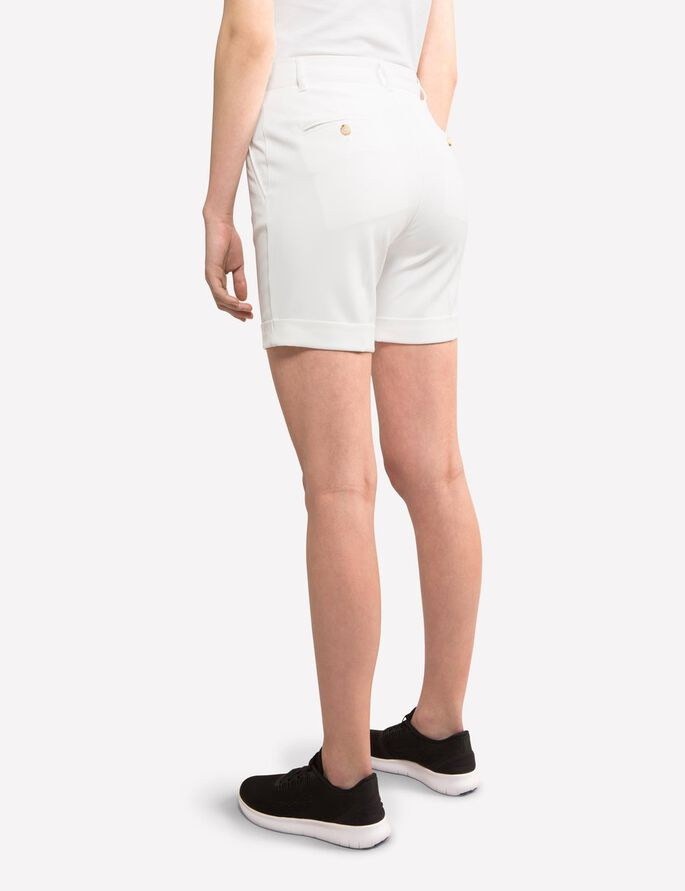 KLARA MICRO STRETCH SHORTS, White, large