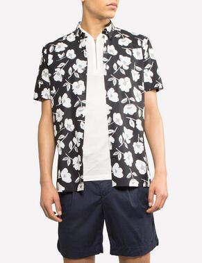 DANIEL HIBISCUS SHORT SLEEVED SHIRT