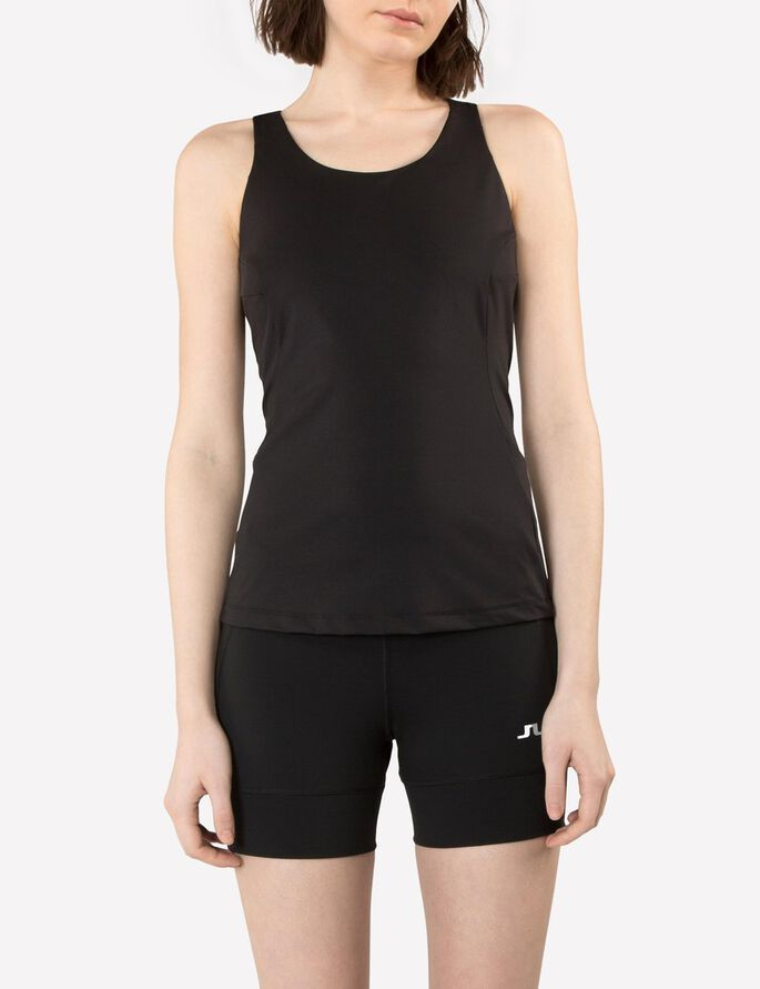 ACTIVE TECH POLYAMIDE SPORTS TOP, Black, large