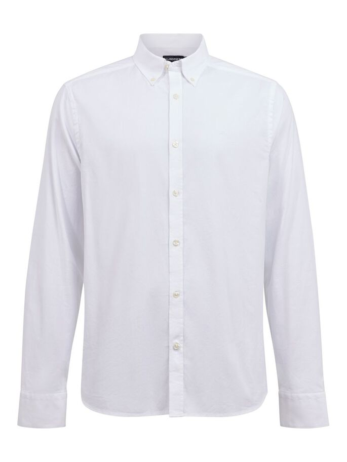 STRETCH OXFORD SLIM FIT CHEMISE, White, large