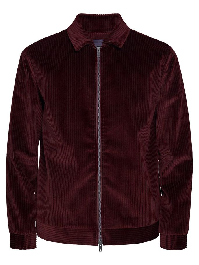 JASON ZIP WHALES JACKET, Dusty Burgundy, large