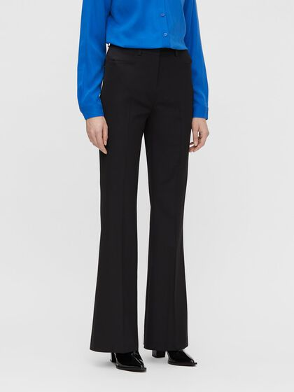 PAIGE ELONGATED FLARE TROUSERS