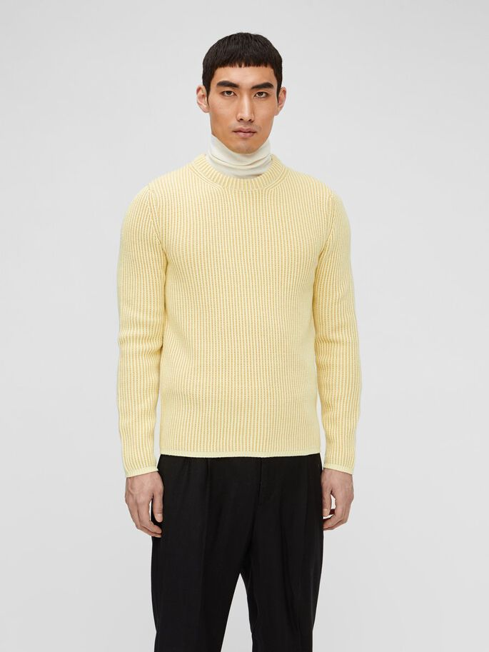 REMUS STRUCTURED PULLOVER, Royal Yellow, large