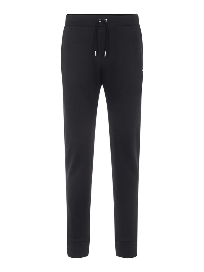 STRETCH FLEECE SWEATPANTS, Black, large