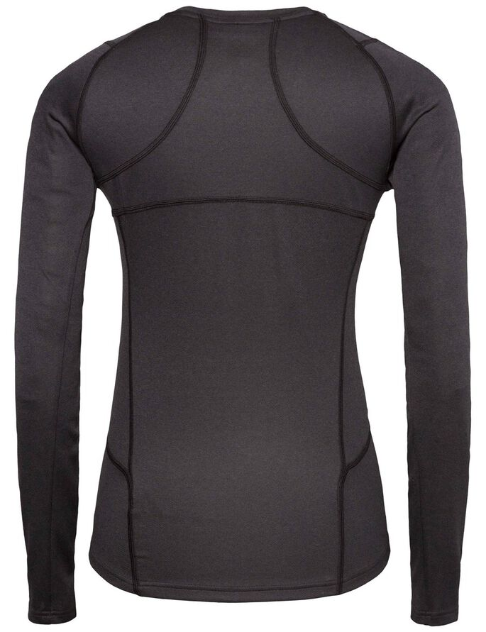 ACTIVE ELEMENTS JERSEY LANGERMET T-SKJORTE, Black Melange, large