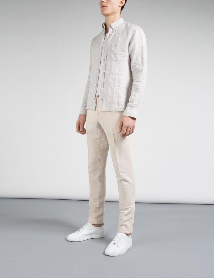 GRANT 63 COTTON LINEN CHINOS, Pale Powder, large