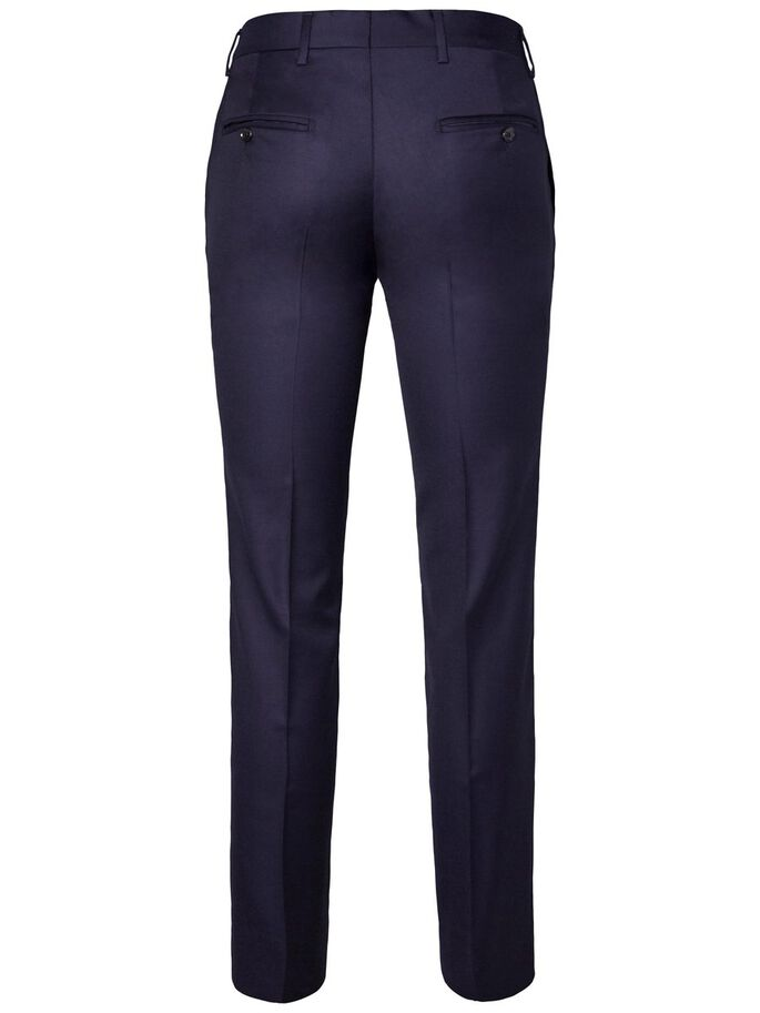 PAULIE LEGEND WOOL SUIT TROUSERS, Dk Blue, large