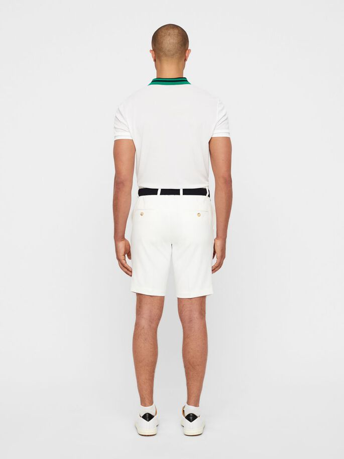 ELOY TAPERED STRETCH SHORTS, White, large