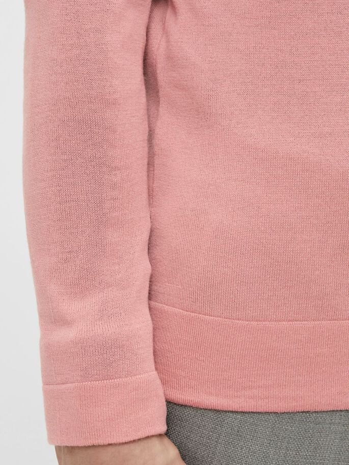 NEWMAN MERINO SWEATER, Rose Coppar, large