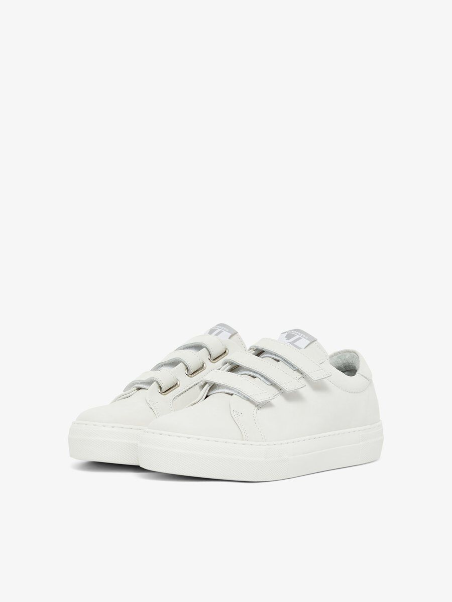 Velcro solid leather sneakers | J.Lindeberg
