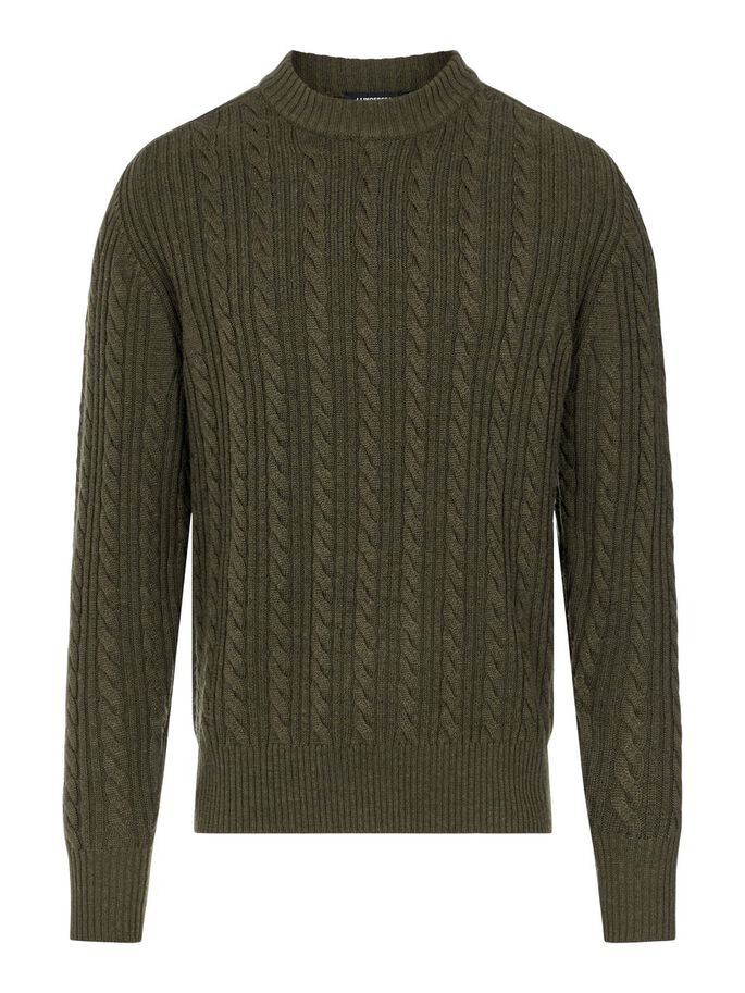 HENRY CABEL SWEATER, Moss Green, large