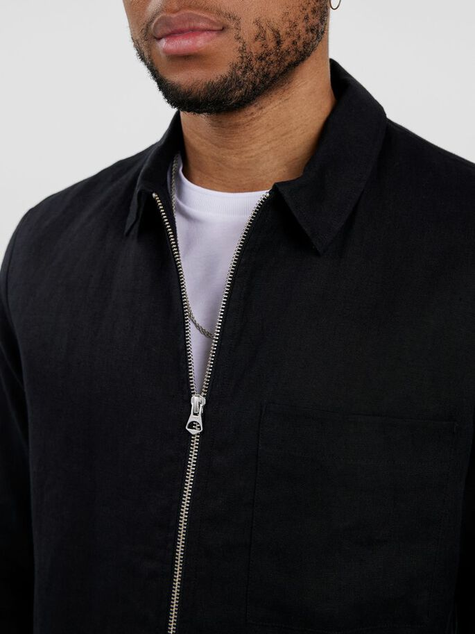 JASON LEINEN OVERSHIRT, Black, large