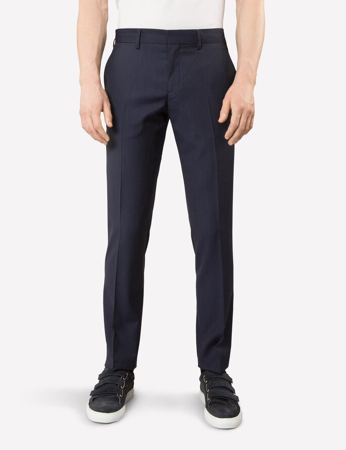 PAULIE FANCY DRESSED WOOL SUIT TROUSERS, Navy, large