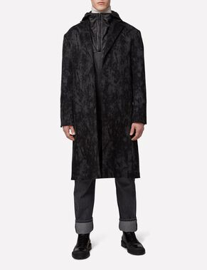 CROMBIE 77 SHADOW MELTON COAT