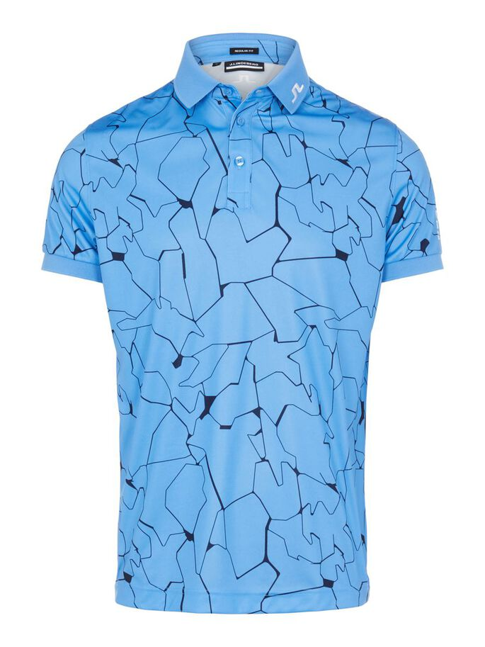 TOUR TECH REGULAR FIT POLOSHIRT, SLIT OCEAN BLUE, large