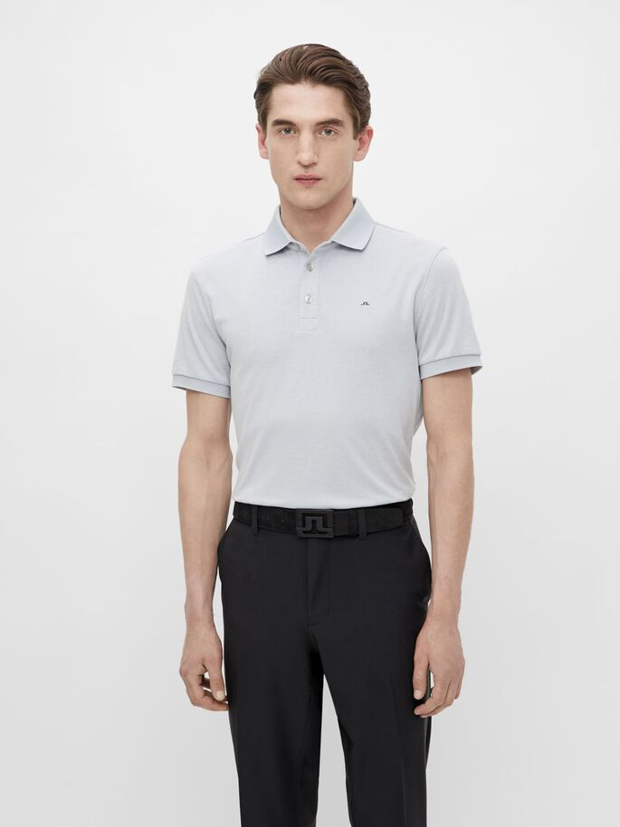STAN REGULAR FIT POLO, Stone Grey Melange, large