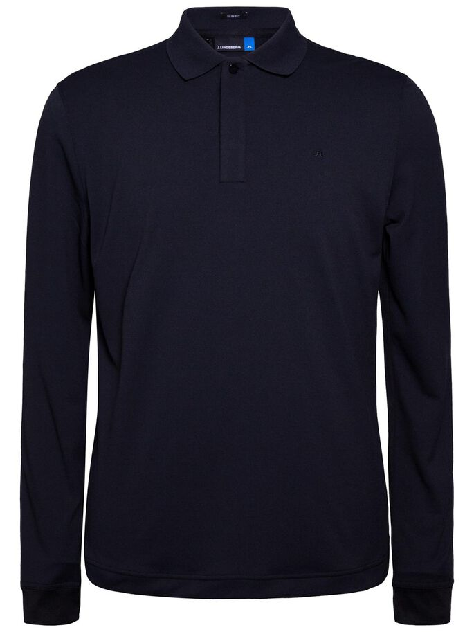 BRANDON LONG-SLEEVED SLIM TX TORQUE POLO SHIRT, JL Navy, large