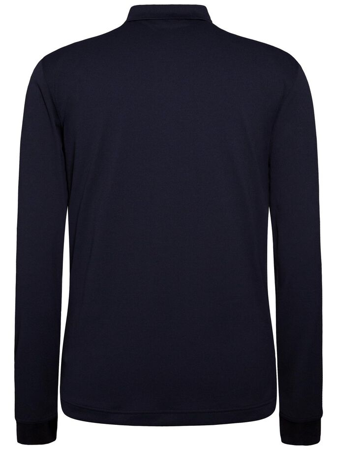 BRANDON LONG-SLEEVED SLIM TX TORQUE POLO, JL Navy, large