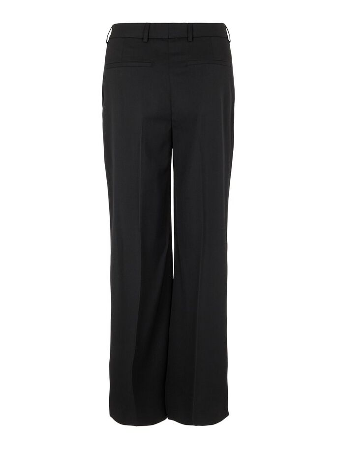 KORI WIDE WOOL TROUSERS, Black, large