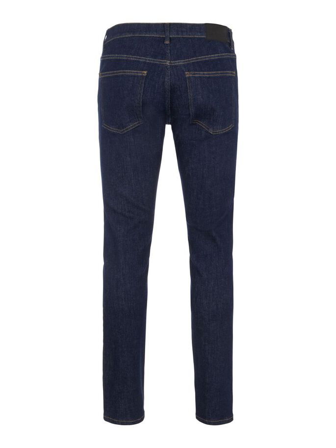 JAY RINSED INDIGO JEANS, Dark Blue, large