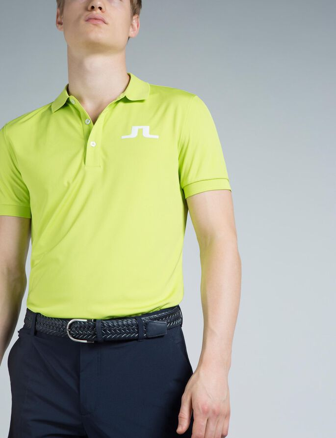 BIG BRIDGE REG TX JERSEY POLO SHIRT, Lime, large
