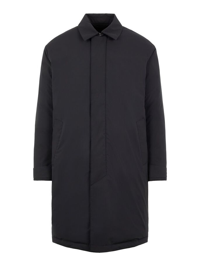 GARETH TECH DOWN COAT, Black, large