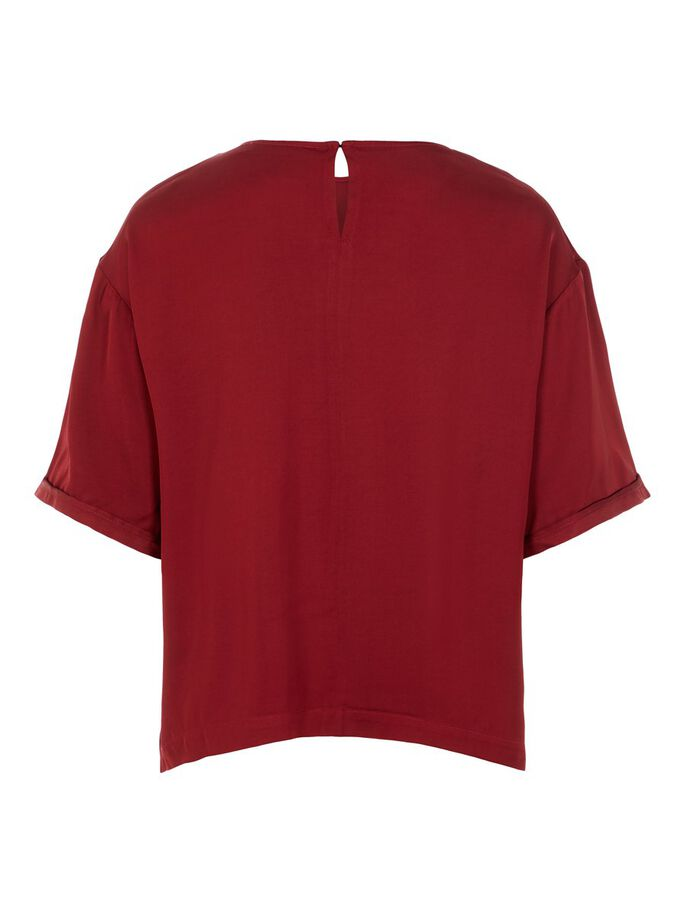 BONNIE SHORT SLEEVED TOP, Chili Red, large