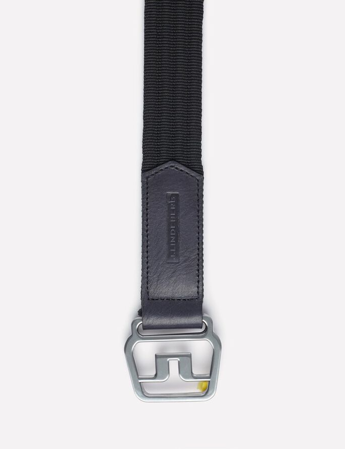 ADLER STRIPED NYLON BELT, Black, large