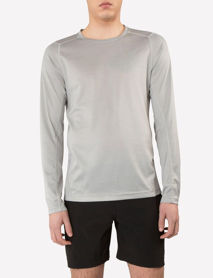 ACTIVE ELEMENTS JERSEY LONG-SLEEVED T-SHIRT, Stone Grey Melange, large