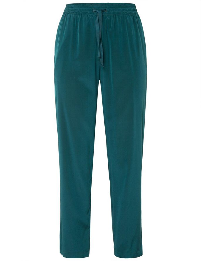 SPRING DRAPY SILK TROUSERS, Deep Green, large