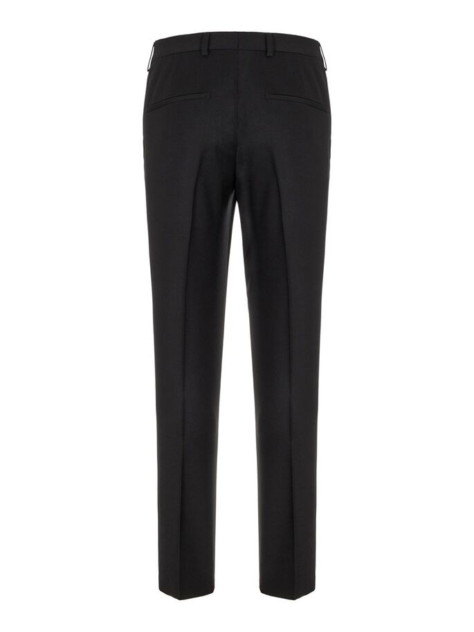 LEO FLANNEL TROUSERS, Black, large