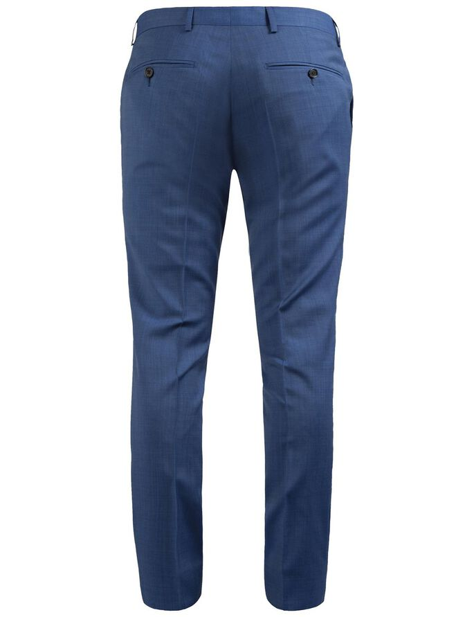 PAULIE FANCY DRESSED WOOL SUIT TROUSERS, Blue, large