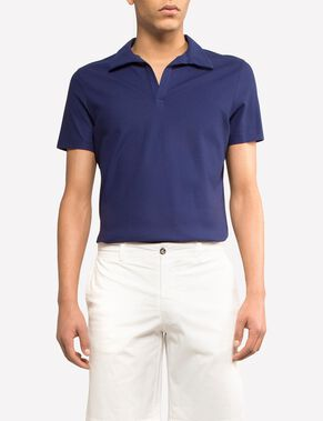 KEVIN COTTON MESH POLO SHIRT