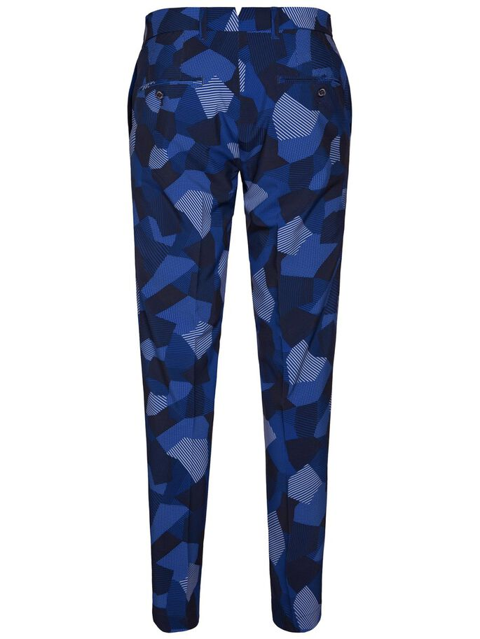 ELLOTT TIGHT MICRO STRETCH TROUSERS, Blue Eclipse, large