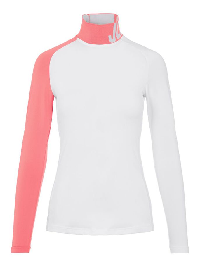 CLEMENCE COMPRESSION TOP, White, large